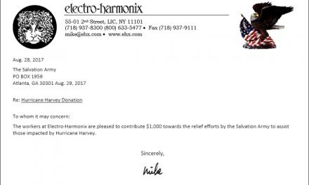 EHX Helps the Relief Effort of Hurricane Harvey
