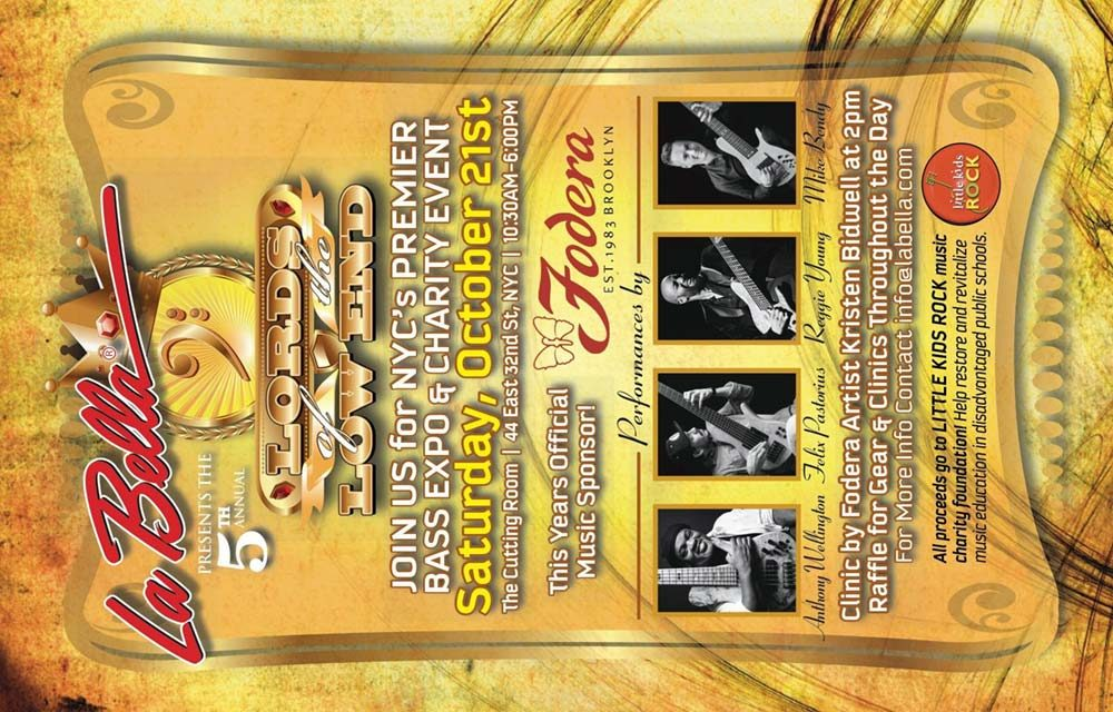 Join Us For La Bella String's 5th Annual Lords Of The Low End!