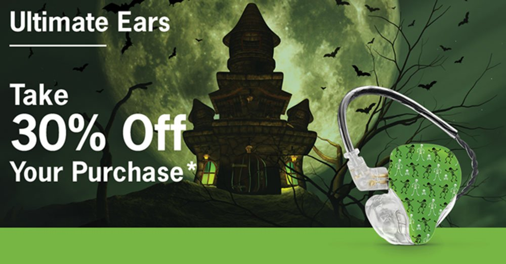 Ultimate Ears Pro – No Tricks! Take 30% off your purchase*!