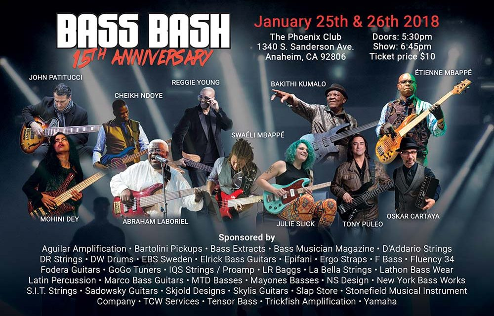 The Bass Bash, Winter NAMM's Most Exciting Bass Focused Event Is Returning For Its 15 Year Anniversary Shows!