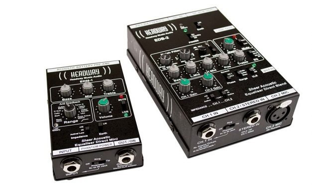 Headway EDM-1 and EDB-2 Acoustic Instrument Preamplifiers