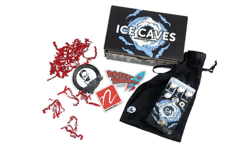 Rocket Surgeon Effect Pedal Laboratory introduces Ice Caves: Ambient Reverb guitar effect pedal from the creators of Nordstrand Pickups