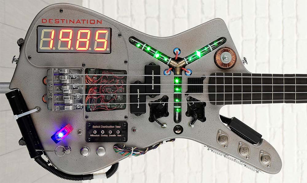 Doner Designs Completes Custom Time Machine Bass Guitar for Charity Sale