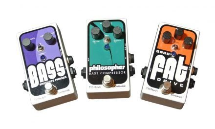 Quick Look – Pigtronix Philosopher Bass Compressor, Bass Envelope Phaser, and Bass Fat Drive Pedals
