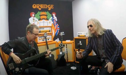 Ade Emsley Introducing Orange The Bass Butler at 2020 Winter NAMM