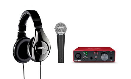 Production bundles for singer-songwriters, podcasters, and drummers, from audio industry leaders, Shure and Focusrite
