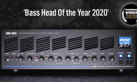 Notable: EBS 802 High Dynamics Linear Bass Head awarded 'Bass Head of the Year'